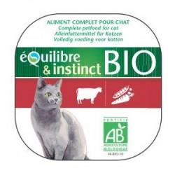 EQUILIBRE & INSTINCT - TERRINE DE BOEUF BIO - LOT de 16 barquettes de 100 g