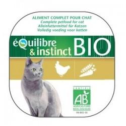 EQUILIBRE & INSTINCT - TERRINE DE POULET BIO - LOT de 16 barquettes de 100 g